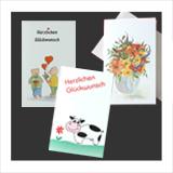 Mini-Karten mit Umschlag