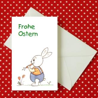 Mini Aquarell-Künstler-Klappkarte Frohe Ostern