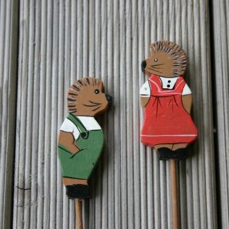 Deko Igel-Set aus Holz