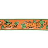 Band Halloween-Kürbis 40 mm mit Drahtkante