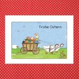 Aquarell-Künstler-Karte - Frohe Ostern