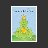 Aquarell-Künstler-Postkarte Frosch Karte
