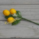 Deko Zitronen-Zweig mit Blätter Kunstblumen
