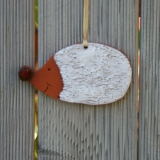 Keramik-Igel, Wandbild, handgefertigt