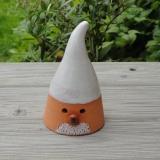 Keramik-Weihnachtsmann, handgetöpfert