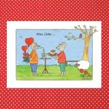 Künstlerkarte Alles Liebe