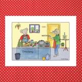 Künstlerkarte Einladung zum Kochen, Essen