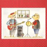 Künstlerkarte für verschiedene Anlässe Schweinchen, Musik